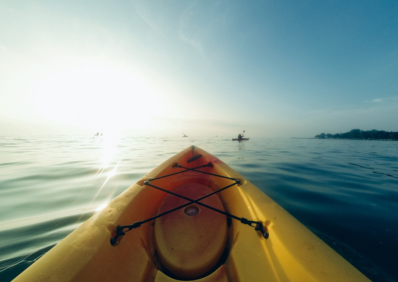 beautiful kayaking scenery